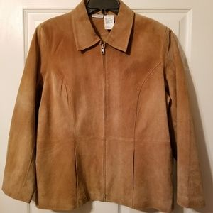 Fashion Bug Suede Jacket 100% leather size 16